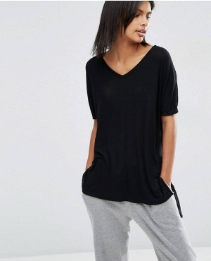 New V Neck Oversized Slouchy Rib