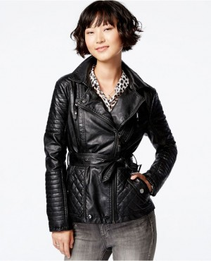 New Women Custom Made Genuine Lambskin Designer Leather Biker Jacket