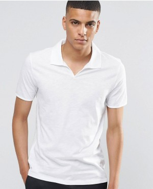 Open Collar Polo Shirt