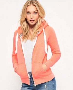 Orange Color Zipper Up Hoodie With Your Customization