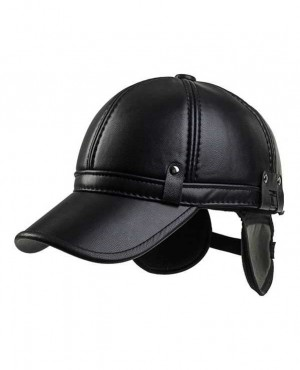 Outdoor Golf PU Leather Earflap Adjustable Golf Hat