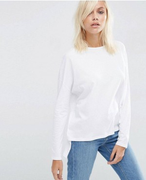 Oversize Long Sleeved Split Back Top