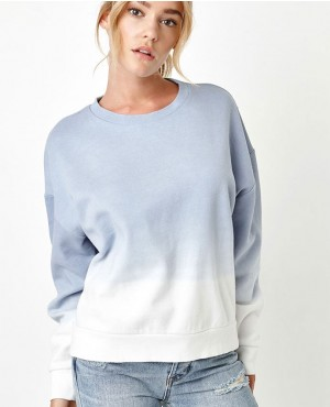 Oversized Tie Dye Crew Neck Sweatshirt