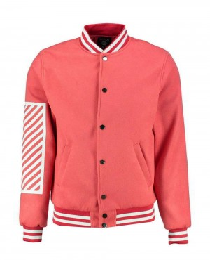 Oversized Varsity Jacket With Print