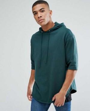 Oversized Longline Short Sleeve Hoodie
