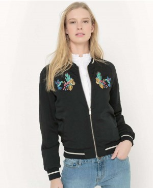 Personal Embroidered Satin Bomber Jacket