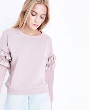 Personalize Frill Sleeve Sweatshirt