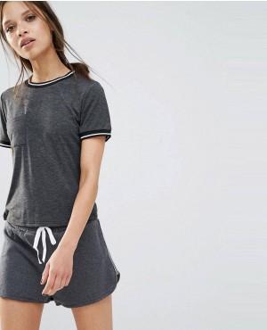 Petite Varsity Pocket T-Shirt