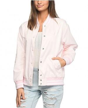 Pink Custom Varsity Bomber Jacket