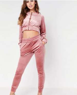 Pink Velour Winter Heavyweight Luxury Copped Tracksuit