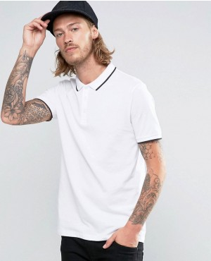 Pique-Polo-Shirt-With-Tipped-Collar-And-Logo-In-White-RO-102552-(1)