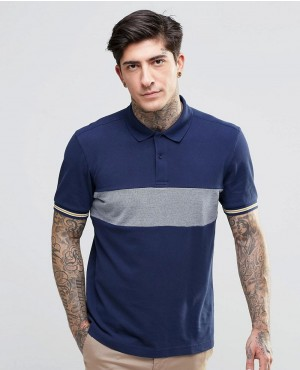 Polo Shirt With Chest Band Slim Fit