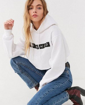 Premium Quality Cropped Hoodie With Friends Logo