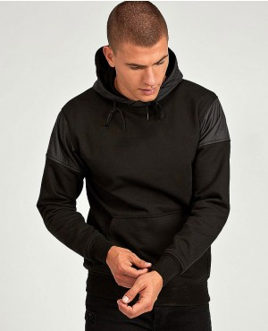 Pullover Black Color Hoodie With Cheep Prices And Low MOQ