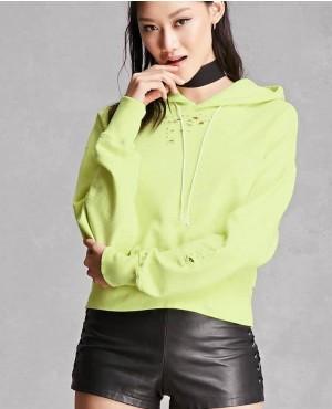 Pullover Cotton Fleece Graphic Hoodie