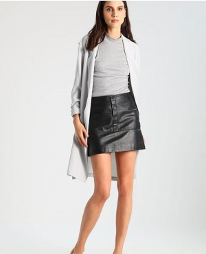 Quality Mini Skinny Fit Leather Skirt Black