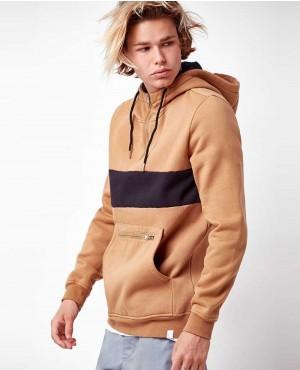 Quarter Zip Pullover Hoodie