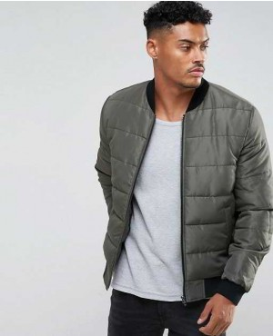 Quilted Bomber Jacket in Various Colors