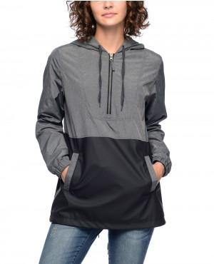 Quin-Grey-Texture-&-Black-PU-Lined-Windbreaker-Jacket-RO-102899-(1)