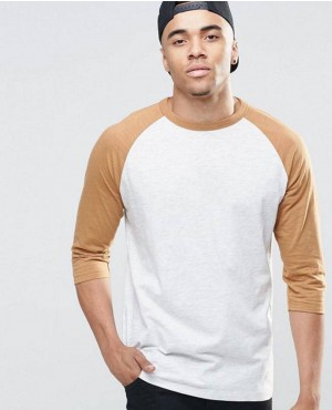 Raglan T Shirt With Half Length Sleeves Long Sleeve