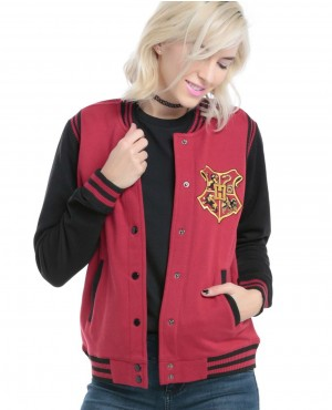 Red Custom Branded Girls Varsity Jacket