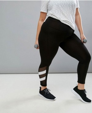 Reversible Stripe Crop Legging