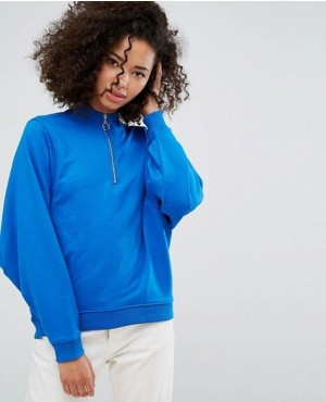 Ring Pull Half Zip Sweat Jumper