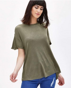 Roll Sleeve Boyfriend T-Shirt