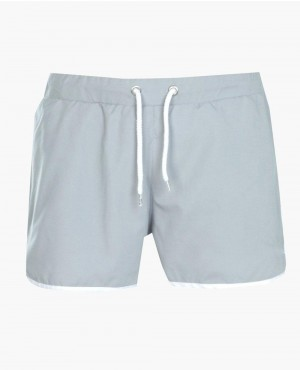 Runner Plain Swim Shorts With Embroidery