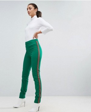 Sexy Bulk Order Trousers with Side Stripe In Green