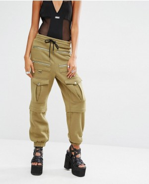 New Arrival Womens Cargo Military Sweatpants