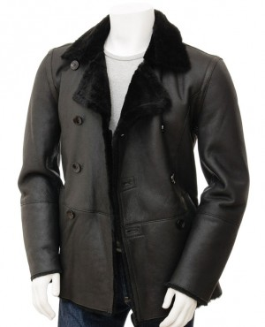 Sheepskin Parka Fur Bomber Leather Coat Jacket