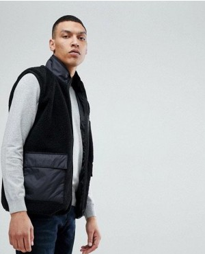 Sherpa Fleece Full Zipper Vest