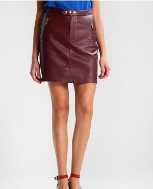 Short Mini Custom Leather Skirt