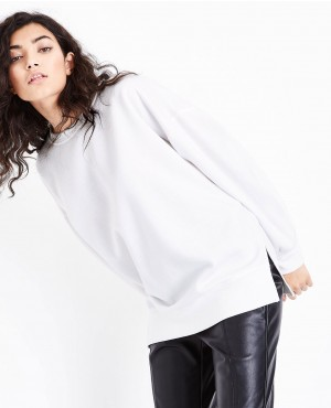 Side Slits Gathered Sleeve Sweater