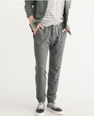 Side Zipper Gery Jogger