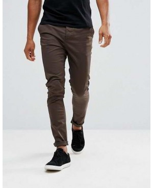 Skinny Chinos In Brown