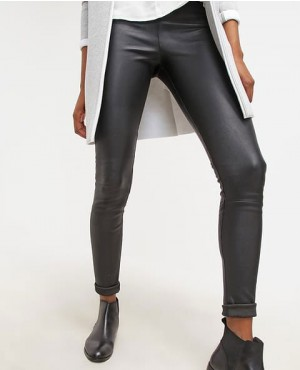 Skinny Leather Pant in Black Custom Made
