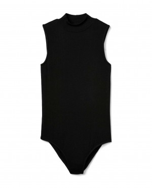 Sleeveless Mockneck Bodysuit & Tank Top