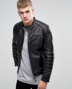 Slim Leather Biker Jacket