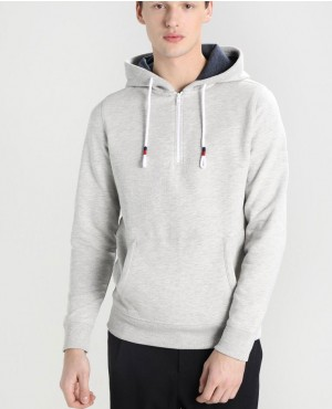 Slim Style And New Arrival Pullover Half Zipper Hoodie