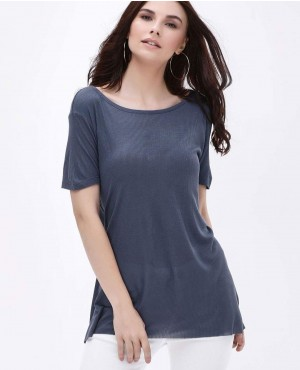Split Back Oversize T-Shirt