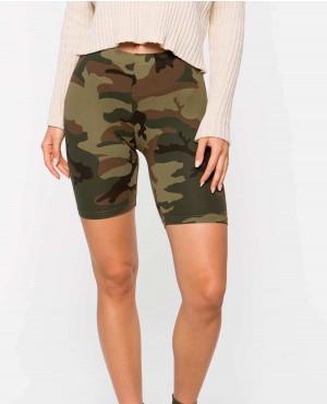 Street Style Basic Skinny Camo Shorts