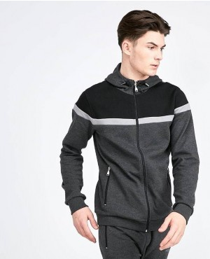 Street Style Custom Zipper Up Paneled Tracksuit
