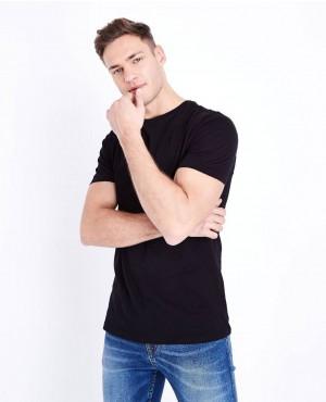 Street Wear Black Short Sleeves Muscles Gym Fit T Shirt