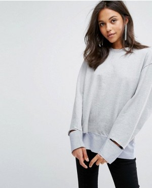 Stylish Disconnected Hem Top