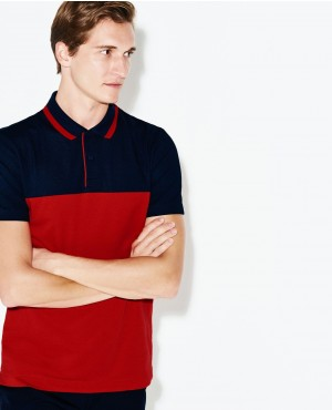 Stylish Sports Colors blocks Technical Petite Golf Polo Shirt