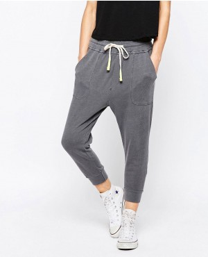 Drop Crotch Jogging Pants
