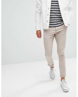 Super Skinny Chinos In Beige
