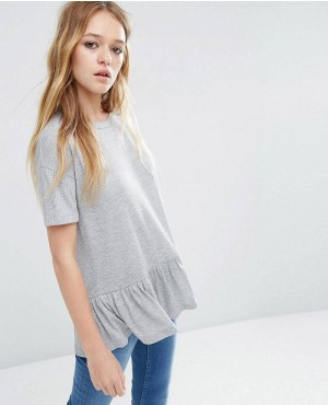 T-Shirt With Ruffle Hem